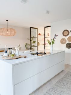 Open Plan Kitchen Living Room, Living Room Modern, Home Decor Kitchen, Kitchen Interior, Home Kitchens, Living Rooms, Home Design, Home Interior Design, Room Inspiration