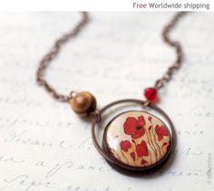 Pretty poppy necklace