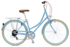 awesome Critical Cycles Dutch Style City Bike Seven Speed Hybrid Urban Commuter Road Bicycle, Sky Blue, 38cm/Small