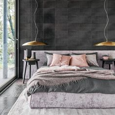 #interiordesign #homedesign #homedecor… Ghost Bed, Hotel Bed, Comforters, Rest, House Design, Blanket, Interior Design, Places, Bedrooms