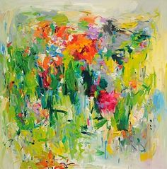 TITLE: Poppies  ARTIST: Yangyang Pan (Canadian)  WORK DATE: 2012  CATEGORY: Paintings  MATERIALS: Oil on canvas  SIZE:h: 48 x w: 48 in / h: 121.9 x w: 121.9 cm   STYLE: Contemporary