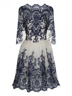 3/4 Baroque Style Tea Dress