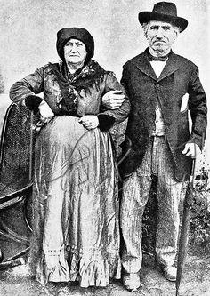 Casal de italianos radicados no Brasil desde 1872. Rio Grande do Sul, 1909.  Couple of Italian immigrants. Rio Grande do Sul State, 1909.