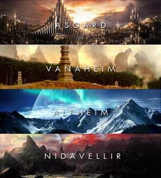 Asgard: A fantasy world's wet dream.  Vanaheim: Ancient Japan, I presume.  Alfheim: Snow.  Nidavellir: Rocks.  AND crappy, ol' Svartalfheim: Alright, can anyone blame Malekith for being a douchebag?
