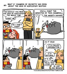 If Chamber of Secrets was about Hufflepuff heir - Imgur
