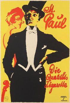 Ludwig Hohlwein (1874-1949), M. Paul cigarettes. (G)