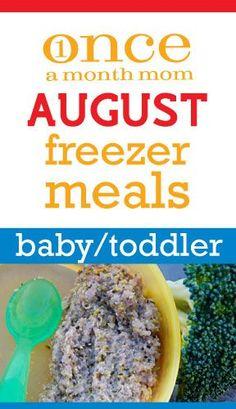 Baby Food (9-12 Months) August 2012 Menu
