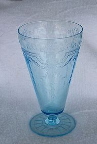 Philbe Blue Fire King Depression Glass Ice Tea Tumbler, Very Rare. Anchor Hocking made this Philbe Dinnerware for only one year.