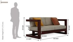 Skyler Wooden Sofa Sets (Mahogany Finish)-10