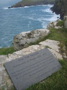 """Poignant """"Lest we forget"""" - on a hike in old stomping grounds around Polzeath I came across this pertainent tribute to the """"Fallen."""" Being ex - Merchant Navy I found it even more profound with the Atlantic as a backdrop and the date was errily  September 11th, 2008"""