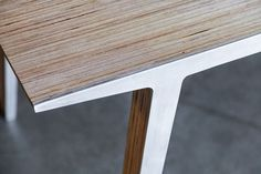 Slipstream Table (Experiments in Aluminum and Plywood Lamination) by abertoni