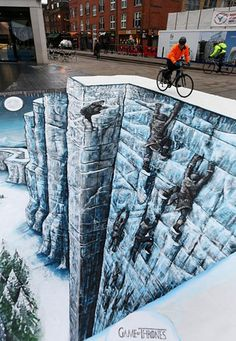 #GameofThrones inspired 3D chalk art