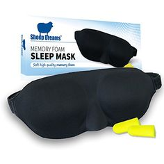 Sheep Dreams Memory Foam Sleep Mask - Best Soft Quality Eye Mask for Men, Women & Kids - Great for Traveling - Earplugs Included Free Sheep Dreams http://www.amazon.com/dp/B00PXFC64A/ref=cm_sw_r_pi_dp_4mygvb0QSC92X