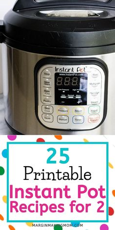 If you're only cooking for two people, then you need to learn how to use your Instant Pot for smaller batches! These printable Instant Pot recipes for 2 are perfect, and come with tips and tricks as well! Instant Pot Pressure Cooker, Pressure Cooker Recipes, Pressure Cooking, Slow Cooker, Cooking For Two, Batch Cooking, Meals For Two, Recipe Conversions, Recipe For 2