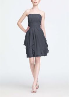 Bridesmaid Dresses by Color by Davids Bridal - Pewter