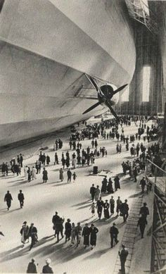 This photo always makes me imagine a zeppelin version of Grand Central Terminal.