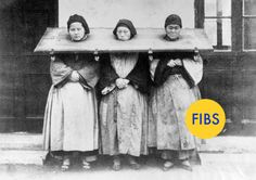 """These """"image actually dates back to between 1870 and 1880 and was taken by a man named William Saunders, a British-born photographer who died in 1892. The women probably weren't prisoners at all. Experts in 19th century Chinese photography believe that the women pictured are probably just people on the streets of Shanghai who were posed in that cangue by Saunders."""""""