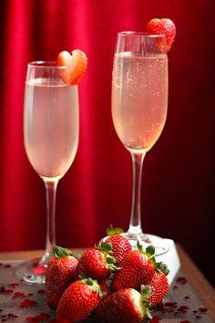 valentine's day cocktail, whipped cream vodka cocktail, valentine's day drinks, champagne cocktails, strawberry cocktails, holiday cocktails