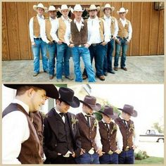 Country Wedding Ideas For Men rustic wedding groomsmen attire wear all black for a more formal appearance while the Wedding Attire Wording, Rustic Wedding Groomsmen, Wedding Rustic, Wedding Country, Western Wedding Ideas, Boho Wedding, Wedding Pics, Dream Wedding, Wedding Decor
