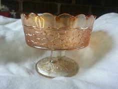 Vintage Dugan Carnival Glass Marigold Bowl Maple Leaf by DamenArt