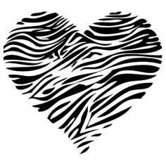 wall Graphics Bedroom - Little Girls Bedroom Wall Graphic Kids Vinyl Sticker Zebra Heart Animal Print. Zebra Print Tattoos, Cancer Tattoos, Vine Tattoos, Tatoos, Girl Bedroom Walls, Zebra Bedrooms, Mom Tattoo Designs, Animal Sketches, Silhouette Cameo Projects