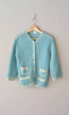 Lamballe wool cardigan wool 1950s cardigan vintage by DearGolden