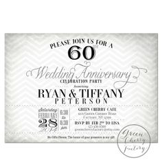 1000 images about 60th wedding anniversary on pinterest for Free printable 60th wedding anniversary invitations