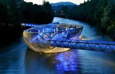 Aiola Island Bridge, Graz, Austria