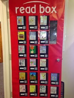 QR Codes linking to book reviews created by students