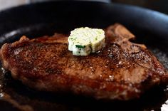 T-Bone Steaks with hotel butter Pioneer Woman style (skip the mashed potatoes)