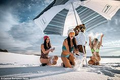 Tourism campaign uses bikini-clad girls to tempt travellers to Russia's coldest region, Siberia http://dailym.ai/1sAGupM