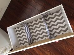 DIY Nursery Drawer Dividers {Very Inexpensive!} - VEDA Day 21