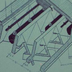 Estructura de hormigón armado que integra iluminación artificial e instalaciones. Louis I. Khan Brick Architecture, Architecture Details, Louis Kahn, Artificial, Architectural Drawings, Theory, Art Gallery, Usa, History