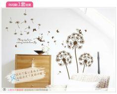 Pastoral style Aestheticism creative stickers Bedroom bedroom living room backdrop creative decals