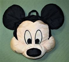 "Disney MICKEY MOUSE Nylon Pillow Play Faces 21"" Long Pillow Plush PLAY by PLAY #Disney"