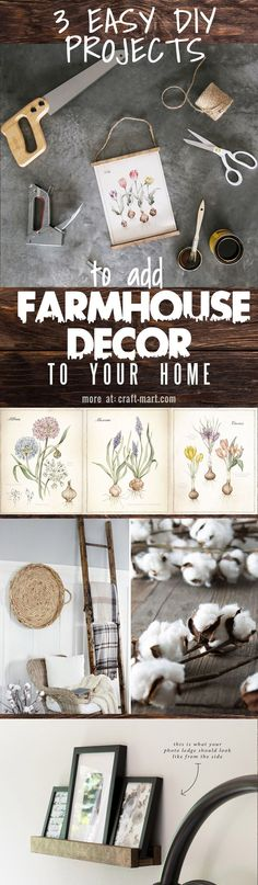 How can you add some farmhouse flair to your home without going overboard? Let's start small. #DIY #farmhousedecor