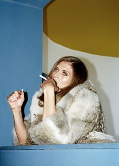 Malgosia Bela photographed by Walter Pfeiffer for Self Service 2014