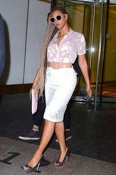 Beyonce Returns to New York City After Skipping Kim Kardashian and Kanye West's Wedding