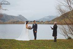 Bride and Groom have wedding at Lake Hayes Wedding ceremony, 4wd wedding package, nz destination weddings…