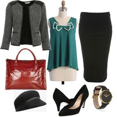 Job Interview outfit styled by Victoria on shopforfun.com