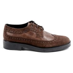 V 1969 Italia Womens Brogue Shoe Brown Trento Denim Shoes, Shoes With Jeans, On Shoes, Brogue Shoe, Brogues, Calf Leather, Suede Leather, Altra Shoes, Duck Shoes