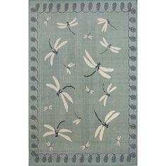 Fingerhut - Liora Manne Dragonfly Rugs – Blue