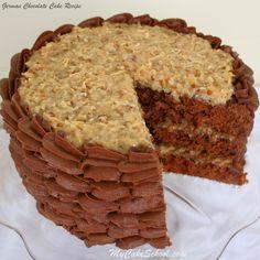 German Chocolate Cake Recipe! {Scratch}:  My Cake School