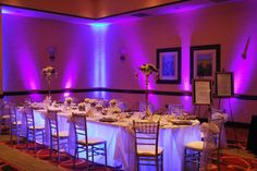 Kasey~ LOVE the uplighting and light under head table!!Theatrical Media Services - Omaha, Nebraska :: Weddings