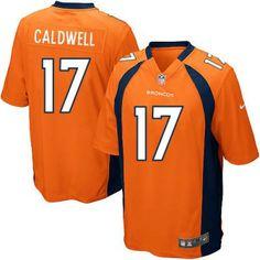ecb087721 NFL Denver Broncos  17 Andre Caldwell Game Orange Men Jersey
