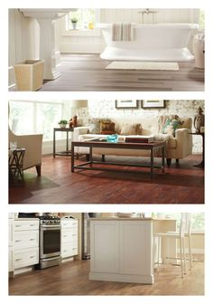 No matter what room you're remodeling or the style of decor, The Home Depot has laminate, vinyl and engineered hardwood flooring to match your budget and your lifestyle. Click through to see the many flooring choices available.