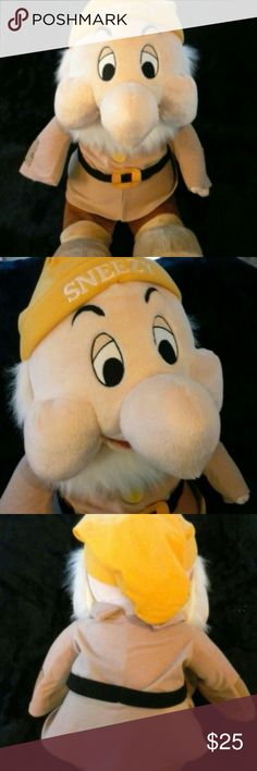 """LN Disney Sneezy Seven Dwarfs London UK 29"""" Like New huge Sneezy 29"""" Long from head to toe.  Excellent Used Condition you might mistake him for New made for the Disney Store London UK. Feel free to ask questions. colors as depicted Browns, tans, white and yellow. :Bundle and save! Disney Other"""