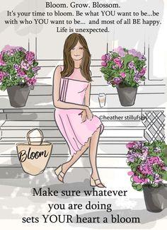 Bloei. Groeien. Bloesem. Art voor vrouwen door RoseHillDesignStudio