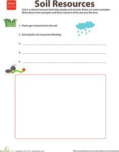 Worksheets: Natural Resources: Soil