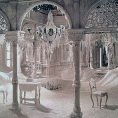 """The ice palace from David Lean's 1965 film, """"Doctor Zhivago."""" MGM/The Kobal Collection/Art Resource Snow Queen, Ice Queen, Dr Zhivago, Doctor Zhivago, Snow Fairy, Winter Fairy, Ice Hotel, Ice Castles, Hogwarts Mystery"""